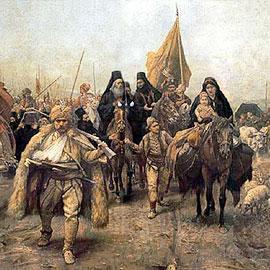 Исход сербов из Косово. Фрагмент картины