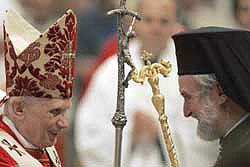 Папа Бенедикт XVI и митрополит Пергамский Иоанн
