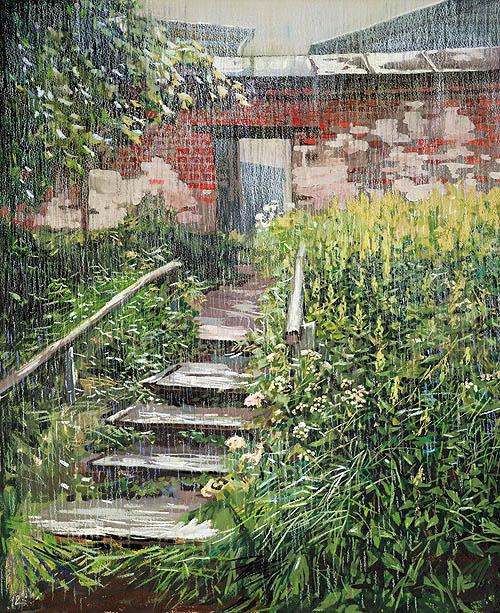 Дождь. Бумага, акварель, пастель. 2007 г.
