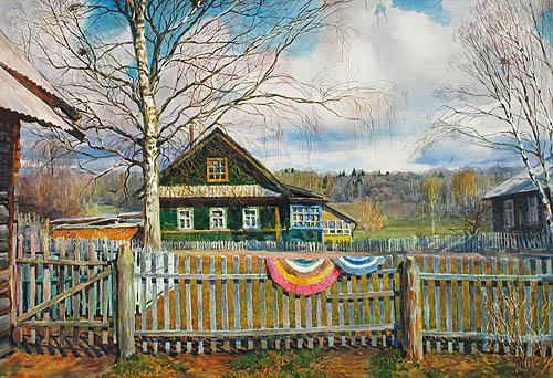 Пора весны. Бумага, акварель, пастель. 2003 г.