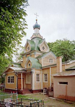 Перенесенный храм Петра и Павла, ныне - Введенская церковь в Рыжево Егорьевского района Московской области