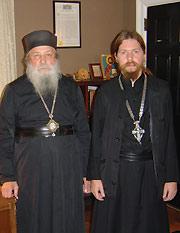 Митрополит Лавр и архимандрит Тихон (Шевкунов)
