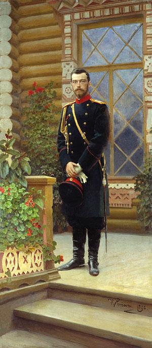 Репин. Портрет императора Николая II. 1896 г.