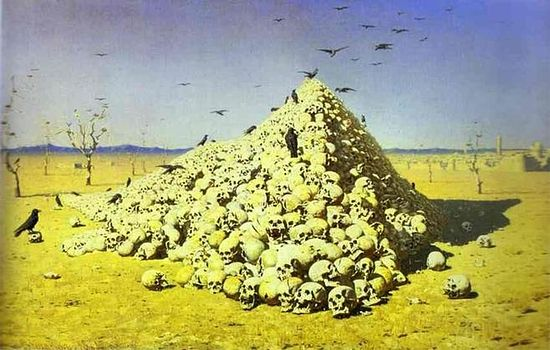 """The Apotheosis of War"" (1871). A painting by Vasily Vereschchagin"