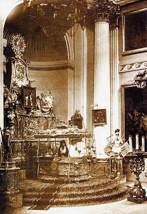 Рака с мощами святого Александра Невского. Фото XIX в.