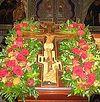 Божественная литургия в Неделю Крестопоклонную Великого поста в Сретенском монастыре