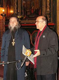 Директор ГИМ Александр Шкурко и архимандрит Макарий (Веретенников)