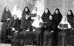 Насельницы Иверско-Серафимовского монастыря. Фото начала XX в.