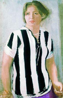 Ил. 4. А. Самохвалов. Девушка в футболке. 1932 г.