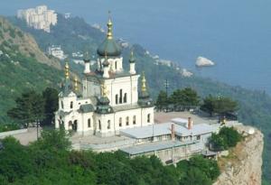 Форосская церковь в Крыму в память о спасении императора Александра III и его семьи