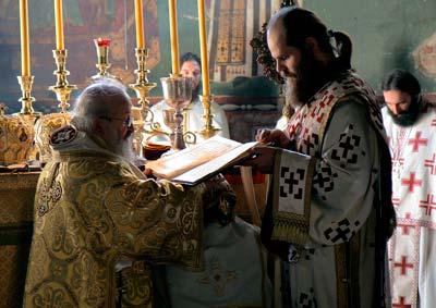 Епископ Артемие совершает хиротонию