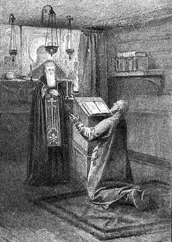 Видение Кузьме Минину преподобного Сергия Радонежского