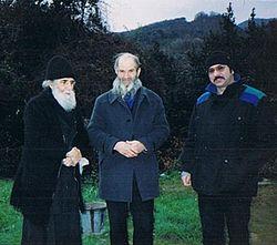 Старец Паисий Святогорец с отцом и братом иеромонаха Николая (Генералова)