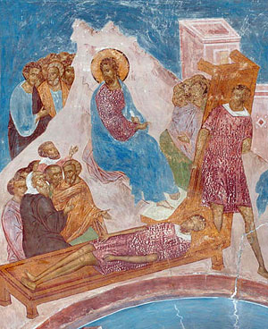 The healing of the paralytic. Diuonisios fresco. Photo: www.dionisy.com