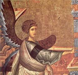 Ангел из иконы Благовещения. Византия, первая четверть XIV века.