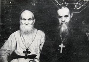Старцы иеросхимонах Макарий (Еременко) и схиархимандрит Серафим (Романцов)