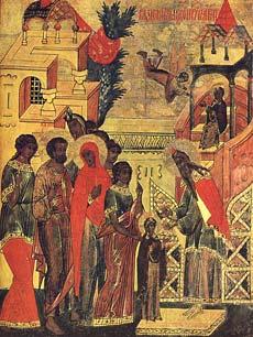Введение во храм Пресвяой Богородицы. XVI век. Суздаль