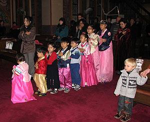 Перед причастием. Престольный праздник в соборе свт. Николая в Сеуле / Фото «Православие в Корее»