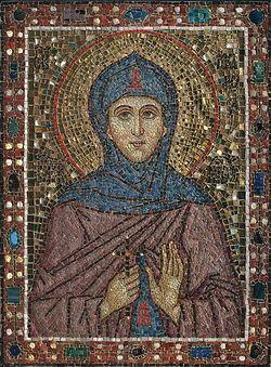 Икона святой блаженной Марфы Московской, Христа ради юродивой. XXI век. Мозаика