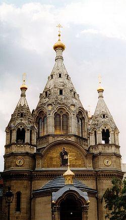 Храм святого Александра Невского на rue Daru