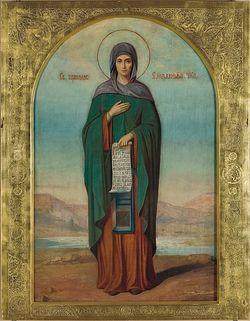 Икона преподобной Елизаветы Чудотворицы. Конец XIX века. Собор Иоанно-Предтеченского монастыря