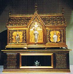 Реликварий с мощами святого Эрхарда