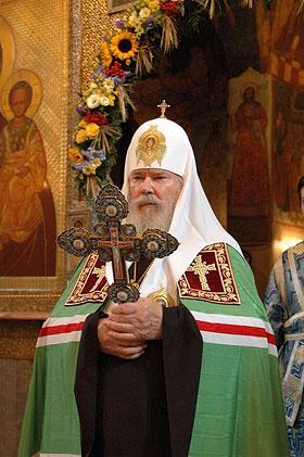 Святейший Патриарх Алексий II. Сретение Владимирской иконы Божией Матери 8 сентября 2006 г. Фото: Православие.Ru