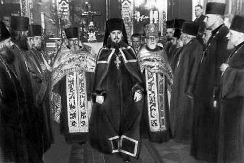 Хиротония архим. Алексия (Ридигера) во епископа Таллинского и Эстонского в Александро-Невском соборе Таллина. 3 сент. 1961 г.