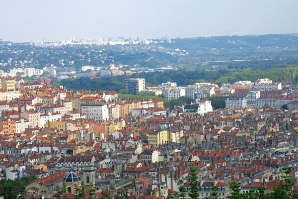 Вид на город с холма Фурвьер