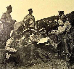 Русско-японская война 1905 г. Совещание русских офицеров