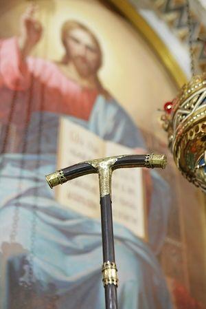 Посох святителя Петра Московского. Фото: Пресс-служба Московской Патриархии