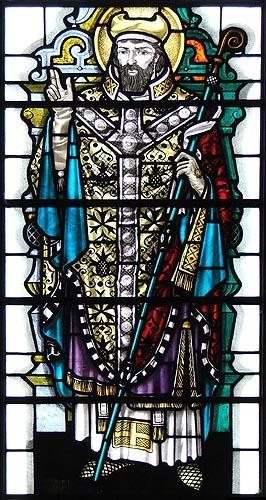 Святитель Этельвольд, епископ Винчестерский, витраж