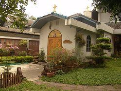 Загрузить увеличенное изображение. 979 x 734 px. Размер файла 300771 b. Никольский храм в г. Бангкоке