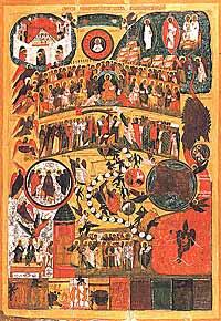 Икона Страшного суда XVI в. Каргополь
