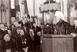 Выступление митрополита Вениамина на Поместном Соборе Русской Православной Церкви. Москва, 1945 год