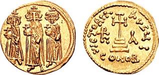 Ираклий и его сыновья Константин III и Ираклон