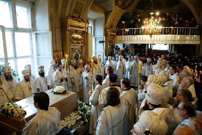 Панихида по почившему Патриарху Алексию II. Фото: Патриархия.Ru
