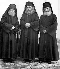 Fr. Paisius (Olaru), Fr. Cleopa (Ilie), and Fr. Joel (Gheorghiu).