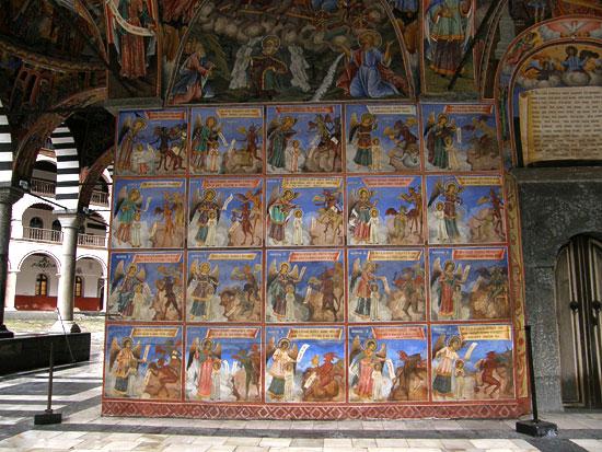 Мытарства. Фрески Рыльского монастыря, Болгария