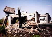 Храм св.Троицы после взрыва