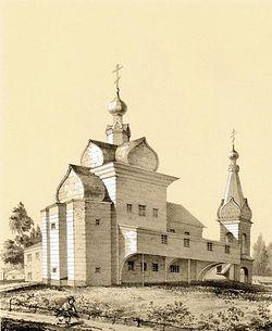 Успенская церковь в Гефсиманском скиту близ Троице-Сергиевской Лавры.