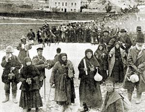 Пешие паломники из России. Фотография начала XX века