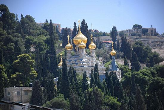 Монастырь св. Марии Магдалины в Гефсиманском саду. Фото: А.Поспелов / Православие.Ru