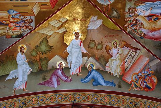 Фрески православного Преображенского монастыря на горе Фавор