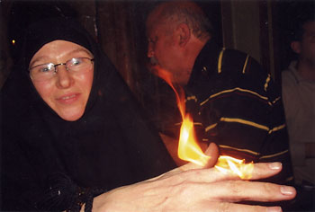 Sister Photinia of the women's Monastery of St Mary Magdalene, Gethsamane, Jerusalem, 2007