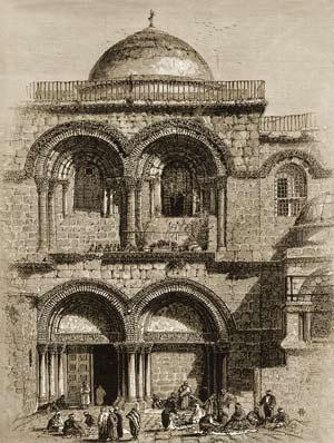 Храм Гроба Господня. Гравюра