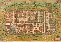 Загрузить увеличенное изображение. 2970 x 2100 px. Размер файла 1968749 b.  Карта Иерусалима. 1584г.