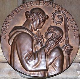 Св. Иоанн исцеляет немого мальчика. Памятная медаль