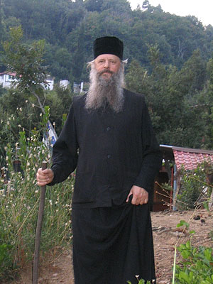 Schema-archimandrite Anastassy on mt Athos