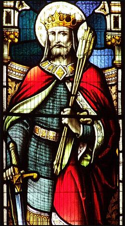 Святой Эдмунд. Витраж церкви в Эссексе